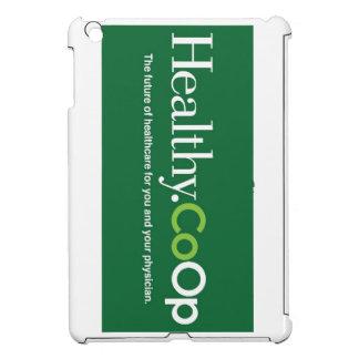 Caso del ipad del logotipo de Healthy.CoOp