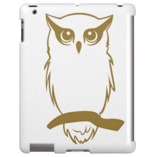 Caso del iPad del logotipo del búho de los miembro