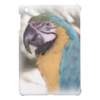 Caso del iPad del Macaw del azul y del oro mini