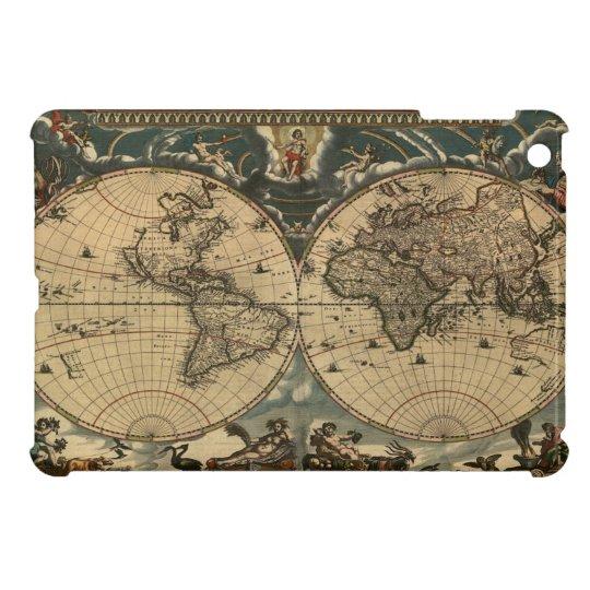Caso del iPad del mapa de Viejo Mundo mini