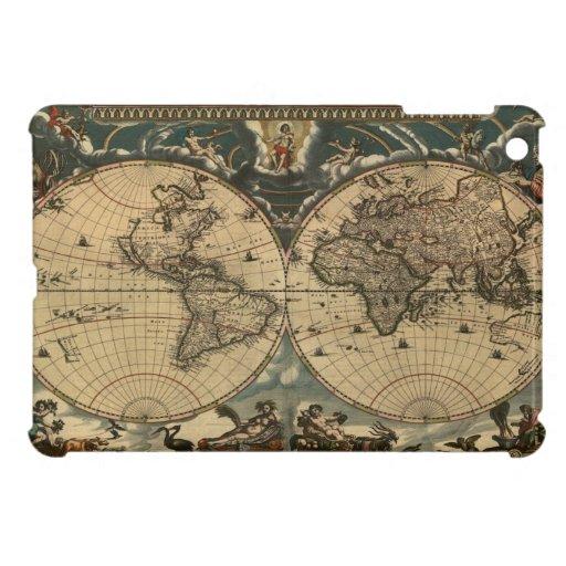 Caso del iPad del mapa de Viejo Mundo mini iPad Mini Funda