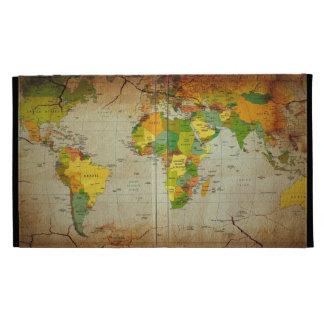 Caso del iPad del mapa del mundo