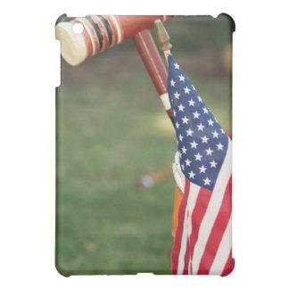 Caso del iPad del mazo de croquet y de la bandera