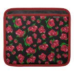 Caso del ipad del modelo del rosa negro y rojo fundas para iPads