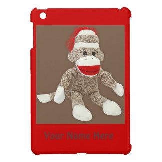 caso del ipad del mono del calcetín mini