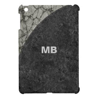 Caso del iPad del monograma de los hombres mini