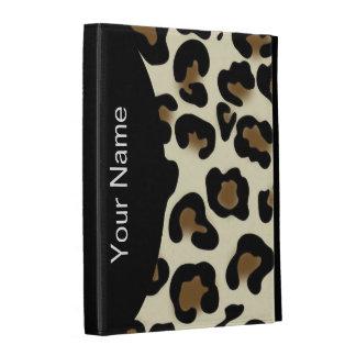 Caso del iPad del monograma del estilo del leopard