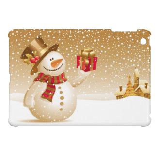 Caso del iPad del muñeco de nieve del navidad mini