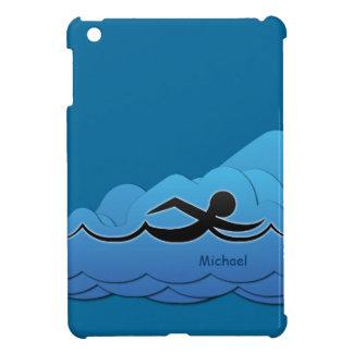 Caso del iPad del nadador de la natación mini