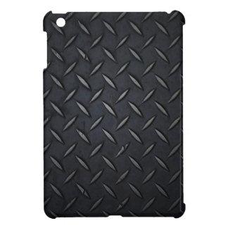 Caso del iPad del negro de la placa del diamante m iPad Mini Carcasas