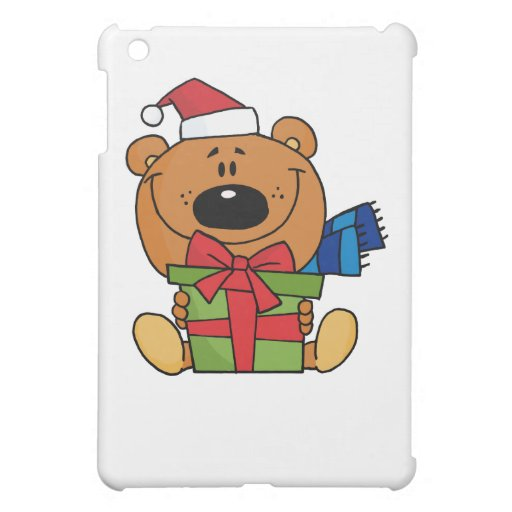 Caso del iPad del oso de peluche del navidad