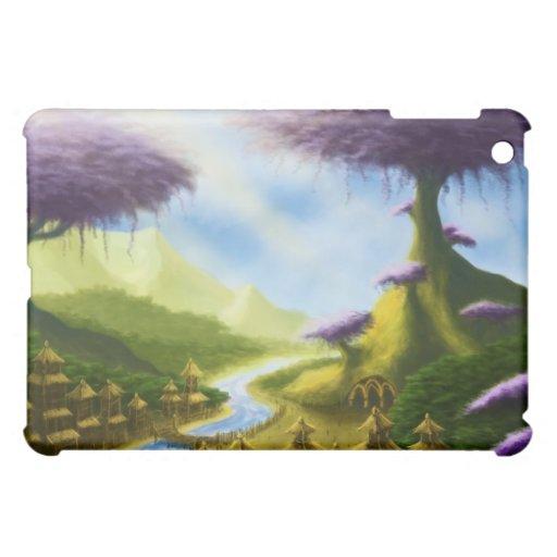 caso del iPad del paisaje de la fantasía del paraí