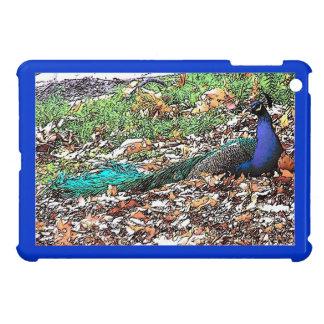 Caso del iPad del pájaro del pavo real mini iPad Mini Protector