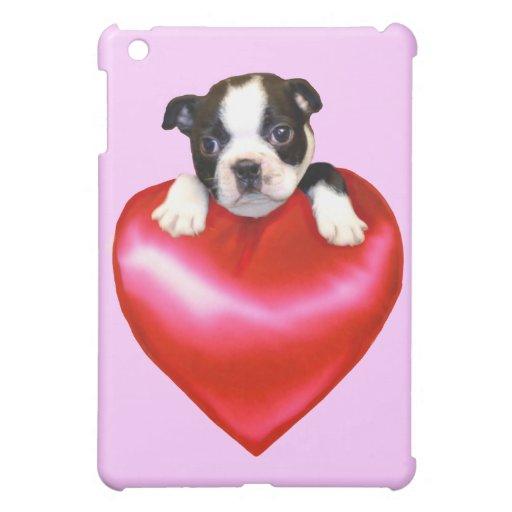 Caso del ipad del perro de Boston Terrier mini iPad Mini Cárcasas