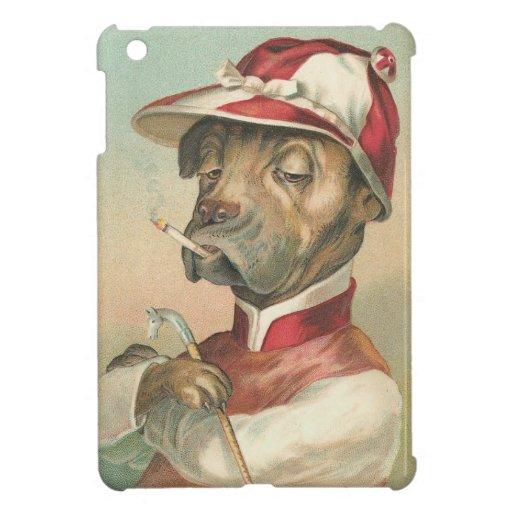 Caso del iPad del perro del jinete del vintage min iPad Mini Coberturas
