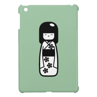 Caso del iPad del pictograma de la muñeca de Kokes iPad Mini Fundas