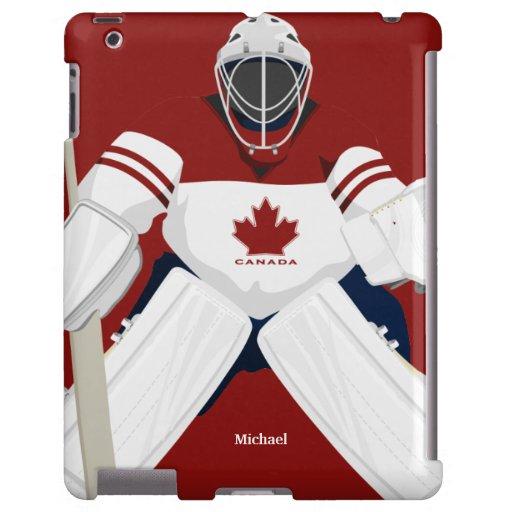 Caso del iPad del portero del hockey del equipo de Funda Para iPad