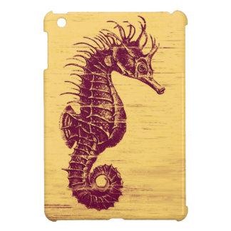 caso del ipad del seahorse del vintage mini
