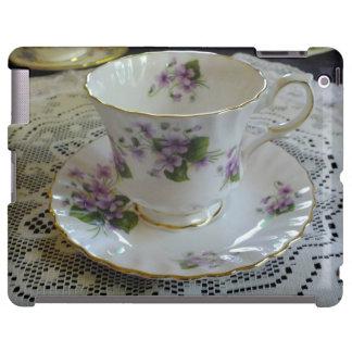 Caso del iPad del té de las violetas de la reina A Funda Para iPad