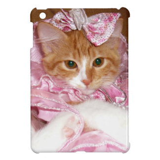 Caso del iPad del vestido del gatito que lleva min iPad Mini Fundas