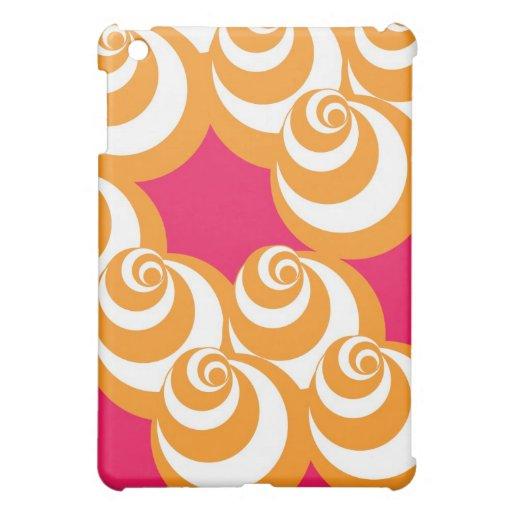 Caso del iPad del vórtice (naranja/magenta)