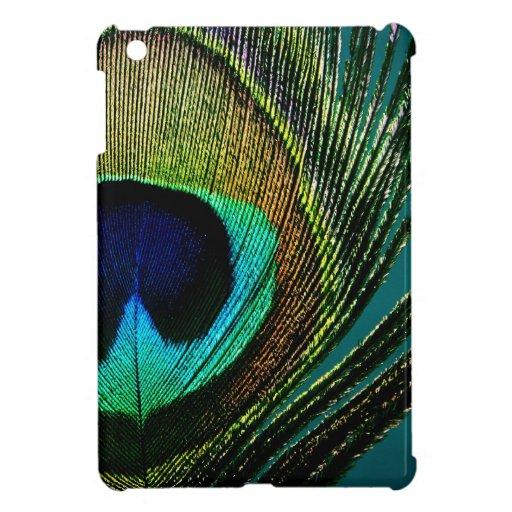 Caso del iPad elegante colorido de la pluma del pa iPad Mini Fundas