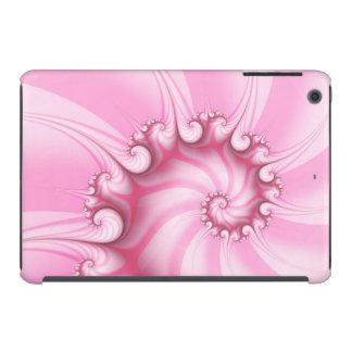 Caso del iPad espiral rosado del fractal del Carcasa Para iPad Mini Retina