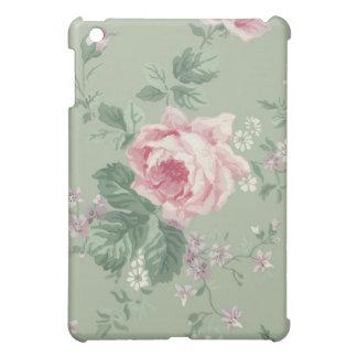 Caso del iPad floral color de rosa rosado del vint iPad Mini Carcasa