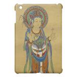 caso del iPad - fondo del bambú de Guan Yin Buda
