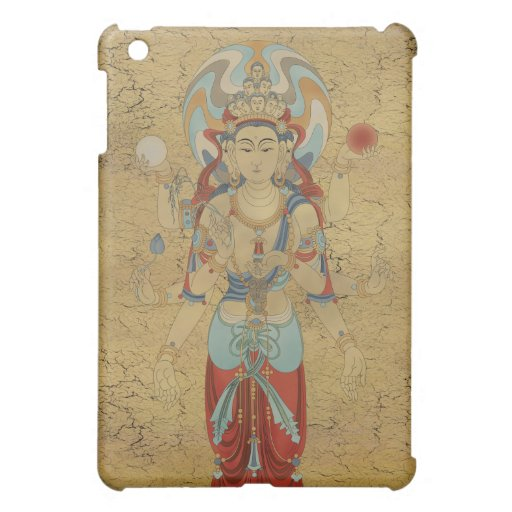 caso del iPad - fondo del crujido de Guan Yin de 8