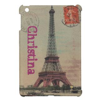 Caso del iPad francés del vintage de la torre Eiff