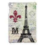 Caso del iPad francés del vintage de la torre Eiff iPad Mini Funda