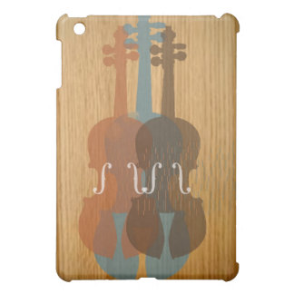 Caso del iPad mate listo de la caja del violín