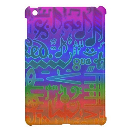 Caso del iPad musical de los símbolos del arco iri iPad Mini Carcasas