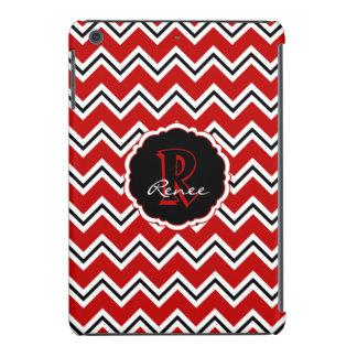 Caso del iPad negro blanco rojo de Chevron del Funda De iPad Mini