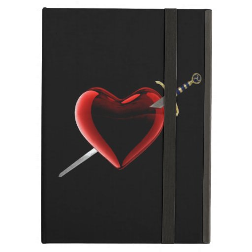Caso del iPad personalizado del corazón y de la da