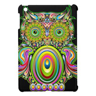 Caso del iPad psicodélico del diseño del búho mini