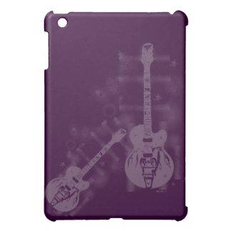 Caso del iPad púrpura gráfico de la guitarra mini