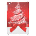 Caso del iPad rojo de la cinta del árbol de navida iPad Mini Carcasa