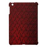Caso del iPad rojo de la placa del diamante mini