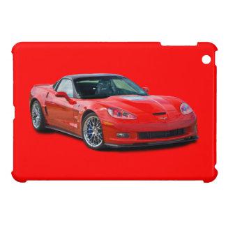 Caso del iPad rojo del Corvette ZR1 mini iPad Mini Fundas