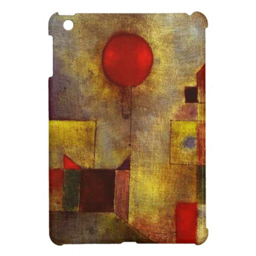 Caso del iPad rojo del globo de Paul Klee mini iPad Mini Protectores