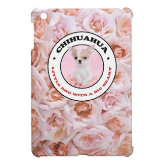 Caso del iPad rosado de la chihuahua mini iPad Mini Cárcasas