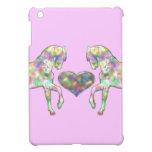 Caso del iPad rosado de los caballos del arco iris iPad Mini Cobertura