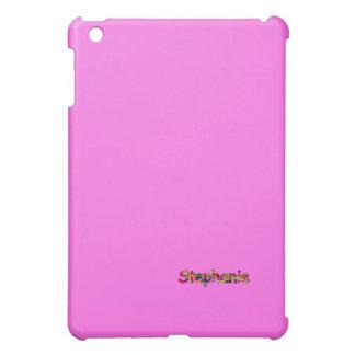 Caso del ipad rosado de Stephanie mini