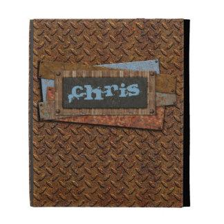 caso del iPad - trabajos del metal - grunge - pers
