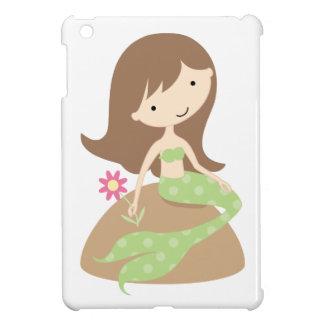 Caso del iPad verde lindo de la sirena del KRW