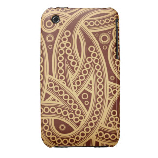 Caso del iPhone 3/3GS de Brown Paisley iPhone 3 Case-Mate Carcasas