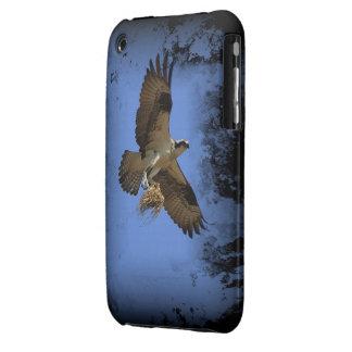 Caso del iPhone 3/3GS de Osprey del vuelo (halcón  iPhone 3 Fundas
