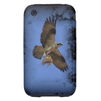 Caso del iPhone 3/3GS de Osprey del vuelo (halcón  Tough iPhone 3 Carcasas